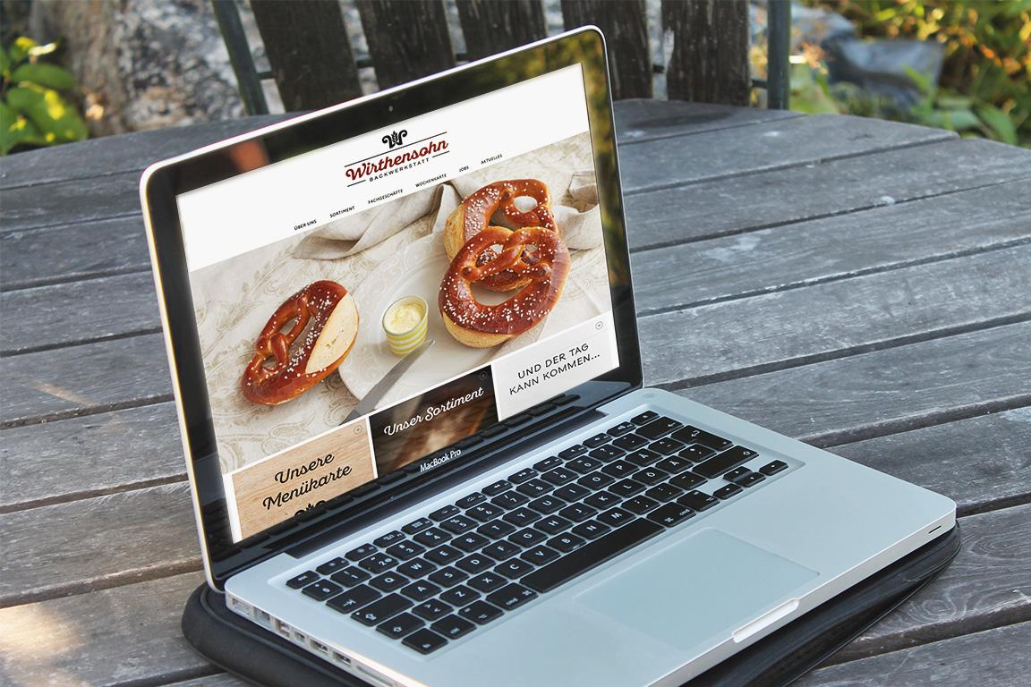 Neue Wirthensohn Backwerkstatt Website