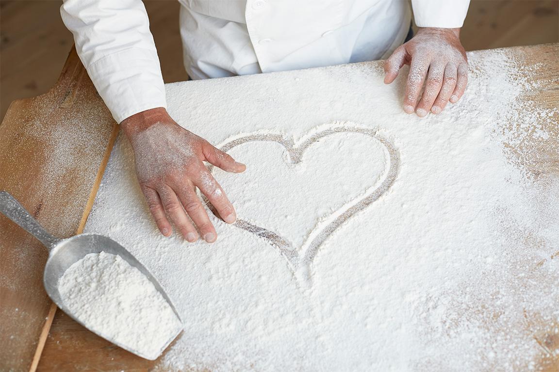 Herz im Mehl