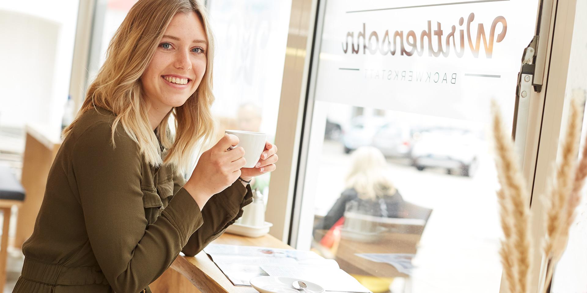 Kaffeegenuß in Wirthensohn's Bäckerei